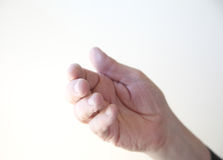 Man gestures with hand Stock Photography