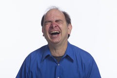 Older man laughing hysterically, horizontal Stock Photos