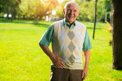 Older man is laughing. Stock Photos