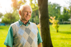 Older man outdoor. Royalty Free Stock Photos