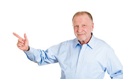 Older man pointing Royalty Free Stock Images