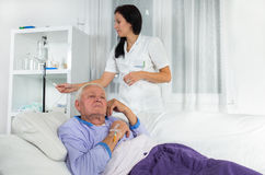 Older man receives infusion Stock Photos