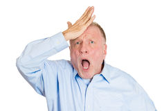 Older man saying duh, oops Royalty Free Stock Image