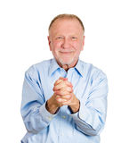 Older man saying thank you Stock Image