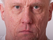 Older Man Serious Closeup Royalty Free Stock Images