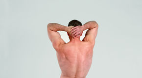 Older man showing muscular back Royalty Free Stock Photo