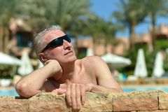 Older man in sunglasses Stock Photo