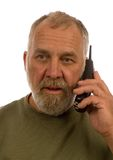 Older man on telephone Royalty Free Stock Photos