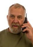 Older man on telephone Royalty Free Stock Photos