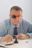 Senior Watchmaker Stock Photography