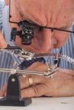 Close-Up of Man Repairing Wrist Watch Stock Photos