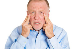 Older man worry Stock Image