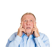 Older man worry Stock Photos