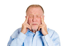 Older man worry Royalty Free Stock Photo