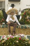 Older Mexican-American man sits on parade float at annual Old Spanish Days Fiesta held every August in Santa Barbara, California Royalty Free Stock Photo