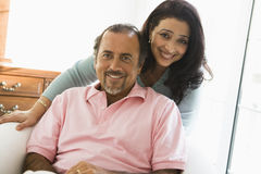 An older Middle Eastern couple stock image