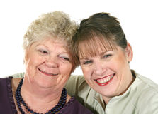 Older Mother And Daughter Stock Photo