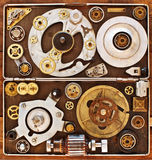 Older parts of mechanisms in the box. Stock Photography