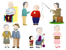 Older people. On a white background Stock Photo