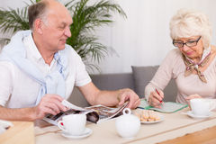 Older people and brain stimulation Stock Photo