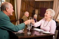 Older people celebration stock image
