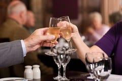 Older people celebration Royalty Free Stock Photo