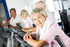 Free Older People Exercising In The Gym Stock Image - 10495121