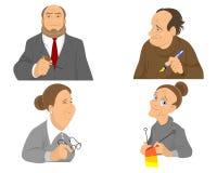 Older people portraits. Vector illustration of a older people portraits Royalty Free Stock Images