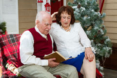 Older people are reading. Royalty Free Stock Photography