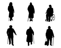 Older people silhouettes Stock Photo