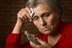 Older sick woman Royalty Free Stock Photos