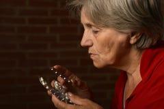 Older sick woman Stock Photo