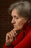 Older sick woman Stock Images
