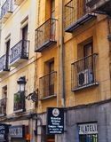 Older Style Apartment Building, Madrid, Spain Stock Image