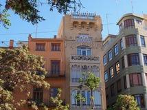 Older Style Apartment Buildings, Valencia, Spain Stock Photos