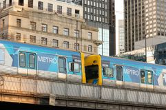 Melbourne, Australia - July 6th 2018: Melbourne Metro Train in the CBD royalty free stock photography