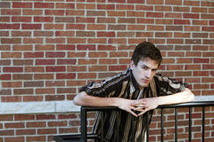 Older teen in striped shirt Royalty Free Stock Image