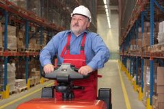 Older Warehouse Worker stock photography