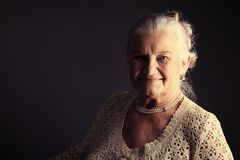 Older woman Stock Photography