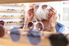 Optical salon. stock photography