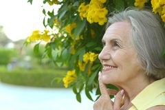 Older woman Stock Image