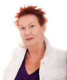 Older Woman with Funky Look Head Shot royalty free stock photography