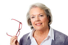 Older woman with glasses Stock Image