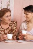 Older woman with her adult daughter Royalty Free Stock Images