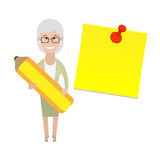 Older woman with a pencil Stock Image