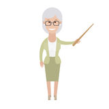 Older woman with a pointer Stock Photos