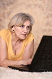 Older woman resting Royalty Free Stock Images