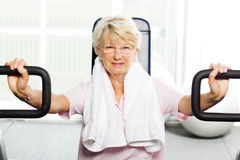 Older woman working out Royalty Free Stock Photo