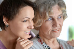 Older woman and a young woman Royalty Free Stock Photos
