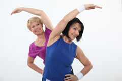 Older women working out. In the gym Stock Image